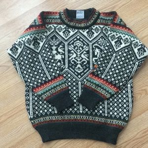 Dale of Norway heavy knit pattern sweater-Sz S